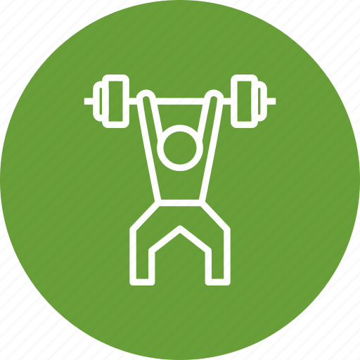 barbell, guy, heavy, magnesium, man, power, training icon