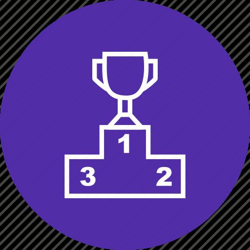 platform, podium, sport, stage, step, winner icon