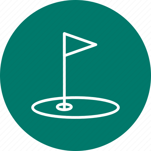 action, club, golf, golfer, golfing, shot, target icon