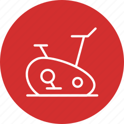 cycle ergometer, exercise bike, fitness, workout icon
