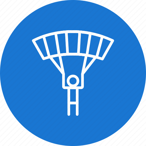 gliding, parachute, parachutist, skydiving icon