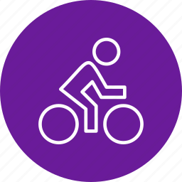 cycle, cycling, cyclist icon