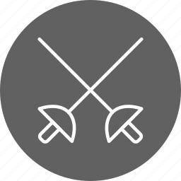 fencing, olympics, sport, sword icon