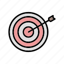archery, dart board, goal, target icon