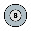 ball, billiard, game, poll icon