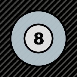 ball, billiard, game, poll icon