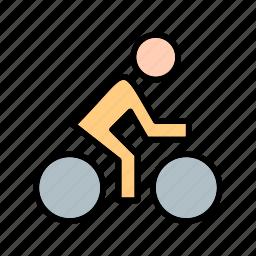 competitive, cyclist, game, helmet, triathlon, wheel icon
