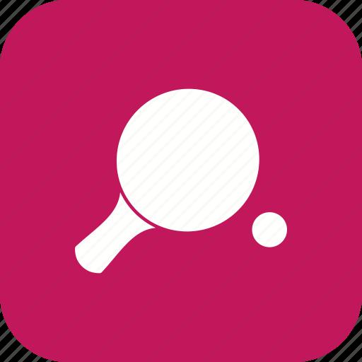 ping pong, pingpong, racket, sports icon