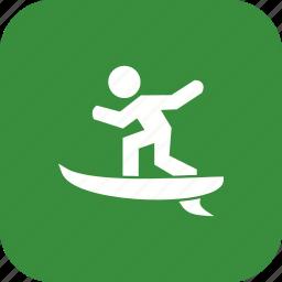 hawaii, sports, surf, surfer, surfing, travel, wave icon