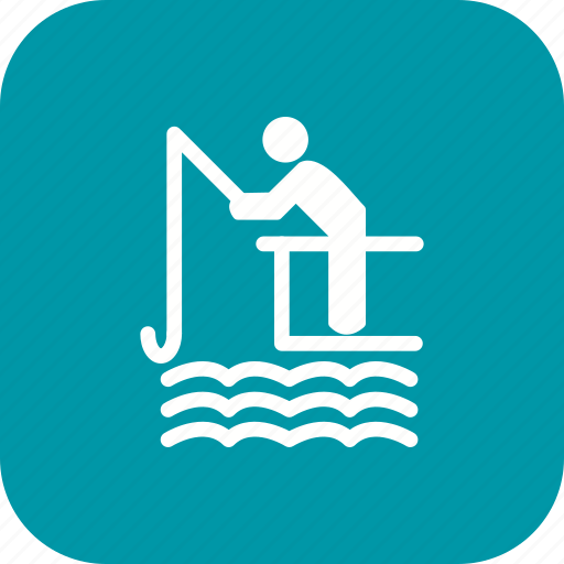 boat, fishing, lake, lure, mansport, river, water icon