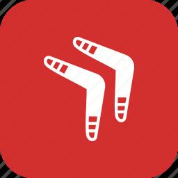 boomerang, boomerange, game, sport icon