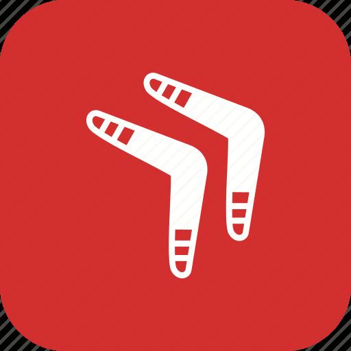 boomerang, boomerange, fun, game, kangaroo, primitive, reverse icon
