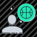basketball, basketballer, game, player, sport icon