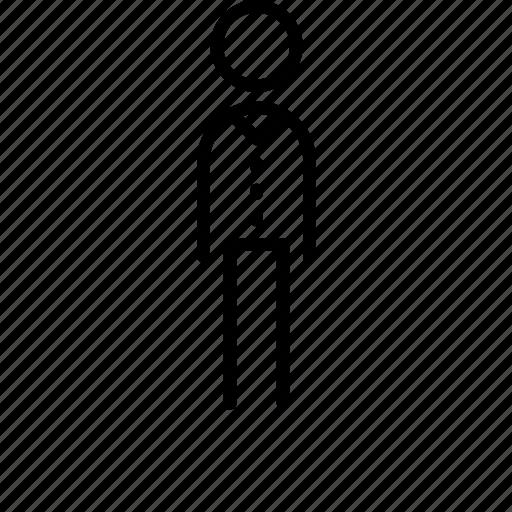 person, referee, umpire, waiter icon