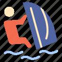 sport, surfer, surfing, water, wind