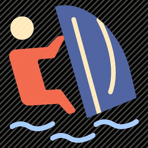 sport, surfer, surfing, water, wind icon