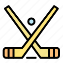 emblem, hockey, ice, stick, sticks