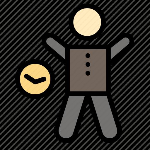 exercise, gym, health, man, time icon
