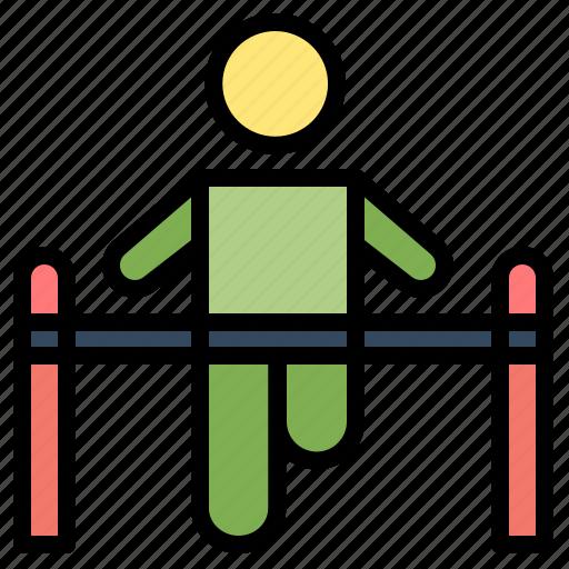 exercise, gym, gymnastic, health, man icon