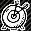 archery, fitness, gym, sports, target, training icon