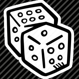 dice, fitness, gym, sports, training icon