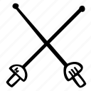 fencing, fitness, gym, sports, training icon