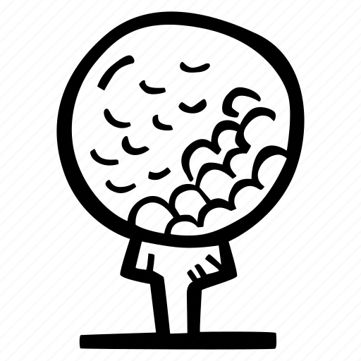 ball, fitness, golf, gym, sports, training icon