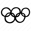 fitness, gym, olympics, rings, sports, training icon