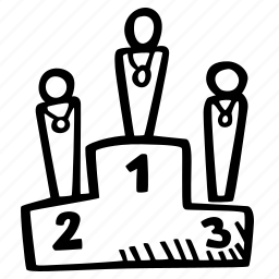 fitness, gym, podium, sports, training icon