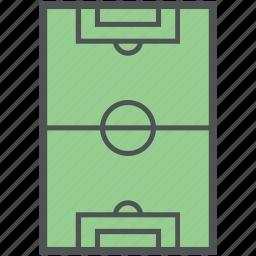 football field, football ground, football pitch, play ground, soccer field, stadium icon