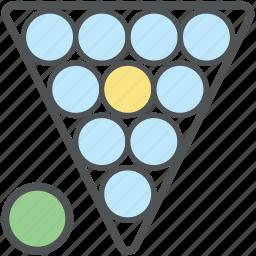 balls racked, billiard, billiard set, game, pool balls, snooker, snooker balls icon