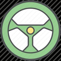 car drive, car helm, car steering, driving, steering, wheel steering icon