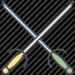 crossguard swords, medieval blade, medieval swords, swords, two swords icon