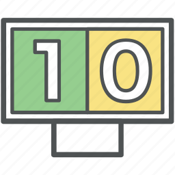 counts, score board, scoreboard tied, scores, sports board, sports game score icon