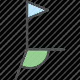 golf, golf accessories, golf club, golf course, golf equipment, golf flag, golf hole flag icon