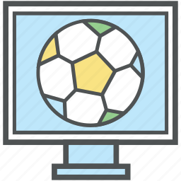 display, football match, lcd, led, monitor screen, screen icon