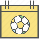 calendar, date, day, event, match schedule, reminder, sports calendar, yearbook icon