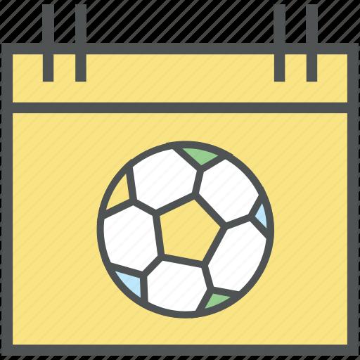 calendar, date, day, event, match schedule, reminder, sports calendar, yearbook icon