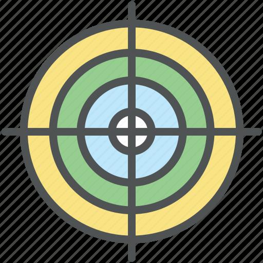 aim, bullseye, crosshair, dartboard, goal, target icon