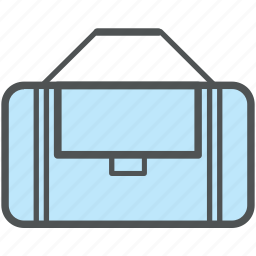 bag, duffle bag, gym bag, kit bag, sea bag, sports bag, sports kit icon