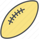 american football, egg ball, rugby, rugby ball, rugby equipment, sports ball icon