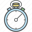 chronometer, stopwatch, time counter, time keeper, timer icon