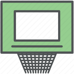 backboard, basketball goal, basketball hoop, basketball net, basketball rims, basketball stand icon
