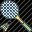 badminton, badminton birdie, racket, shuttlecock, squash game, tennis icon