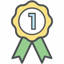 achievement, award medal, first place, medal, position badge, prize, reward ribbon, ribbon badge icon