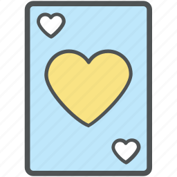 ace of heart, casino, entertainment, heart card, playing card, suit card icon