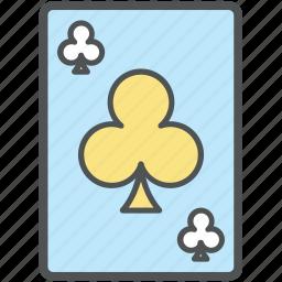 casino card, club card, gambling, playing card, poker card icon
