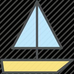 boat, boating, gaff cutter, sailboats, sailing, sailing ship, yacht icon