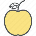 apple, diet, fruit, healthy diet, healthy food icon