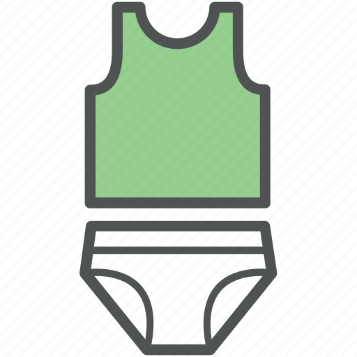 briefs, pantie, swimming suit, undergarment, vest and briefs, vest swimsuit icon